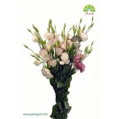 دسته گل لیسیانتوس لب صورتی