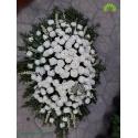 سبد گل تسلیت رومیزی لاکچری رز و مریم کد DF00906