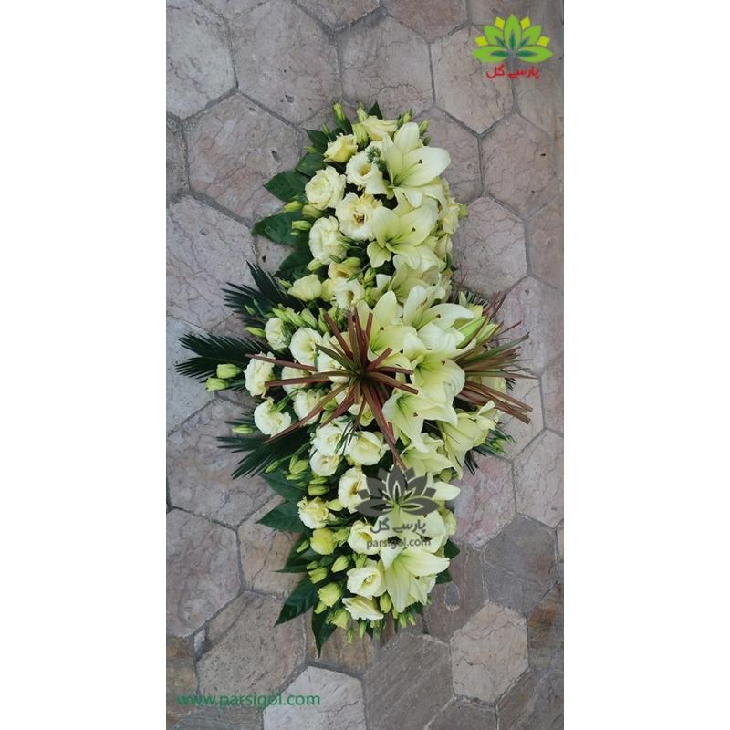 سبد گل ترحیم رومیزی لیلیوم کد DF00706
