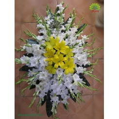 سبد گل ترحیم و فاتحه لیلیوم زرد کد DF01506