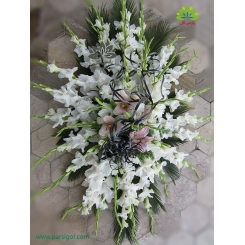 سبد گل رومیزی عرض تسلیت کد DF01706