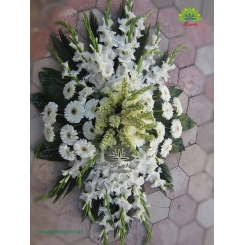 سبد گل مراسم ختم و ترحیم لوکس کد DF02106