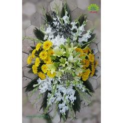 سبد گل رومزاری خاکسپاری و فاتحه کد DF02206