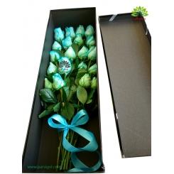 جعبه گل لاکچری رز آبی کد DF01705
