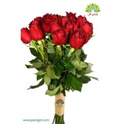 دسته گل رز قرمز ساده کد DF00803
