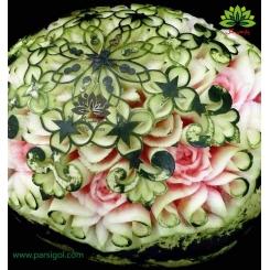 تزئین شیک هندوانه ویژه شب چله (یلدا) کدYL00801