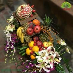 تزئین مدرن سبد میوه شب یلدا کدYL01401