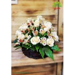 سبد گل چوبی رویال رز کد DF04702