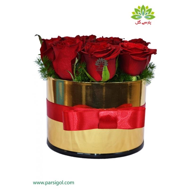 جعبه گل رز (گلد باکس) کد DF01505