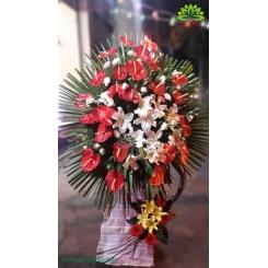 تاج گل تبریک و افتتاحیه ساده و شیک کد DF51601