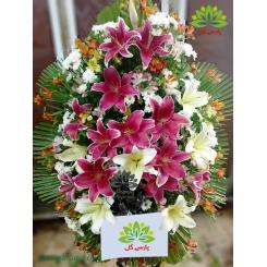 تاج گل تبریک و افتتاحیه پر گل کد DF52001