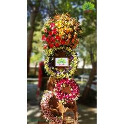 تاج گل تبریک و افتتاحیه با رنگ شاد کد DF52201