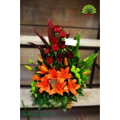 سبد گل زیبا و مجلسی بله برون کد DF04902
