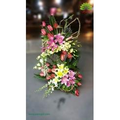 سبد گل کلاسیک و لوکس تبریک کد DF05102