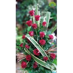 سبد گل ایرانی رز قرمز کد DF05202