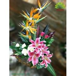 سبد گل هدیه سالگرد ازدواج کد DF05302