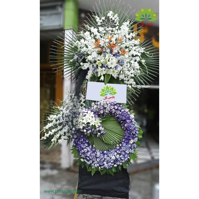 تاج گل تبریک و افتتاحیه پرنده بهشتی کد DF54201