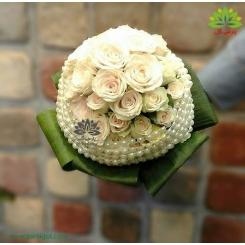 دسته گل عروس رز مدل سال 97 کد DF06104