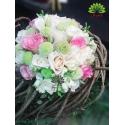 دسته گل عروس با گل های رنگی کد DF08204
