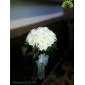 دسته گل ساقدوش رز سفید کد DF09804