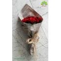 دسته گل رز قرمز رومانتیک کد DF01703
