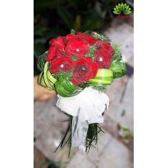 دسته گل رز هدیه عاشقانه کد DF01803