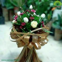 دسته گل ترکیبی قلب عاشق کد DF01903