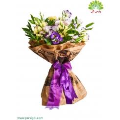 دسته گل تبریک لیسیانتوس کد DF01203