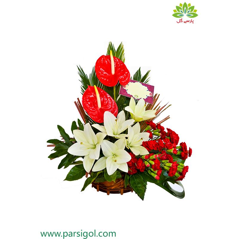 سبد گل تبریک و شادباش کد DF02902