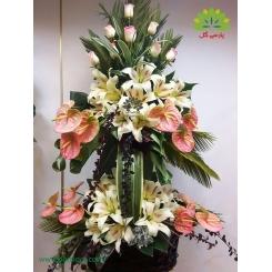 سبد گل زیبا و باشکوه دو طبقه کد DF06902