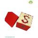 جعبه گل رز ولنتاین طرح حرف S کد DF00905