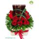 جعبه گل هدیه رز لند کد DF00305