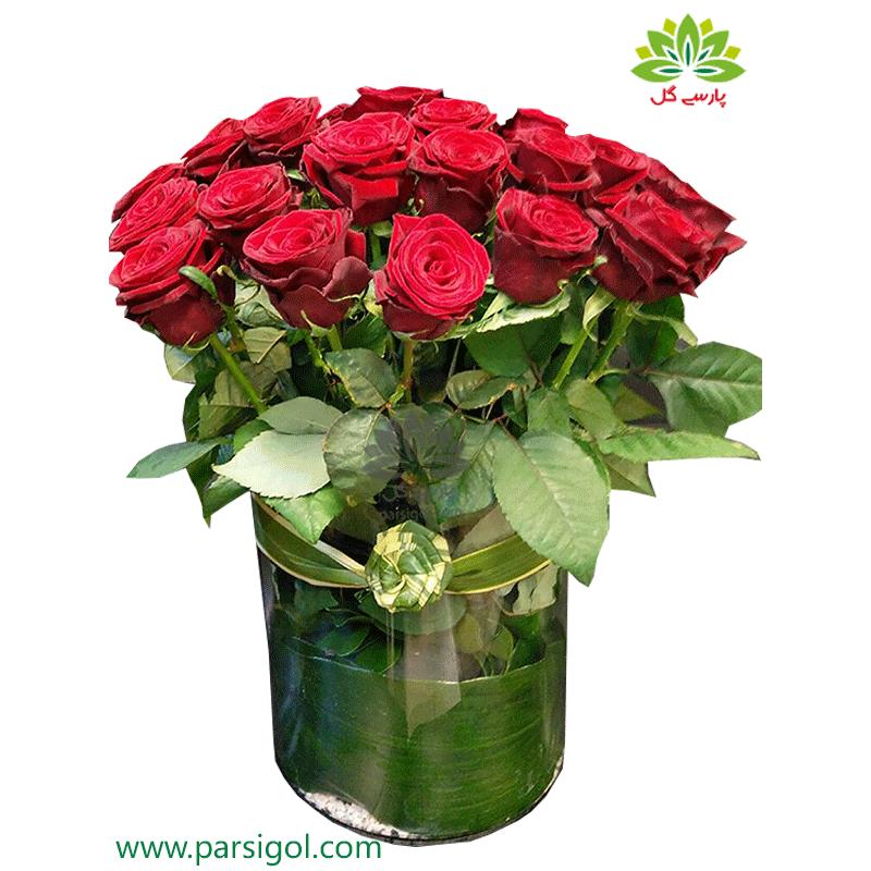 جعبه گل شیشه ای رویال رز کد DF00605