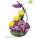 جعبه گل تبریک تولد کریستال (شیشه ای) کد DF03705
