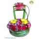 جعبه گل بهاره کریستال (شیشه ای) لوکس کد DF03605