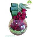 جعبه گل رز فلاور شیشه ای (کریستال) کد DF03805