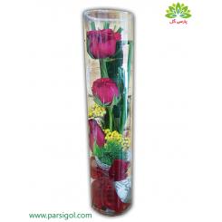 باکس گل کریستال (شیشه ای) رز قرمز کدDF04005