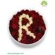 جعبه گل رز حرف R اول اسم کد DF04305