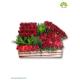 جعبه گل چوبی گل رز قرمز کد DF04705