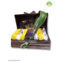 جعبه گل چوبی تبریک تولد کد DF04805