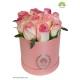 جعبه گل رز صورتی استوانه کد DF00705