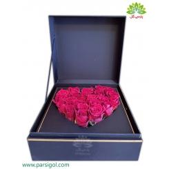 جعبه گل رز قلب عاشق کد DF04905