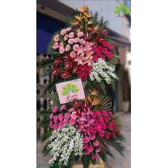 تاج گل تبریک دو طبقه استرلیتزیا کد DF00101