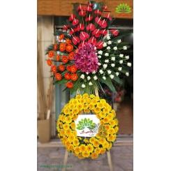 تاج گل تبریک دو طبقه آنتوریوم کد DF00301