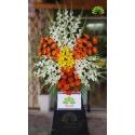 تاج گل ترحیم یک طبقه گلایول کد DF01701