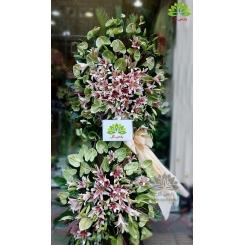 تاج گل افتتاحیه سبز کد DF01501