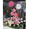 سبد گل شیک و لاکچری دو طبقه کد DF00702