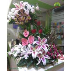سبد گل دو طبقه مجلل و شیک خواستگاری کد DF02102