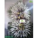 تاج گل عزاداری دو طبقه سفید کد DF54401