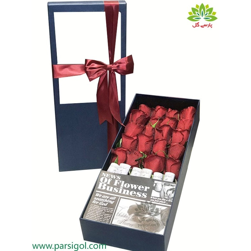 جعبه گل هدیه روز عشق کد DF06305